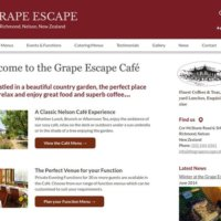 The Grape Escape Café & Catering Website