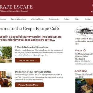 The Grape Escape Café & Catering Website