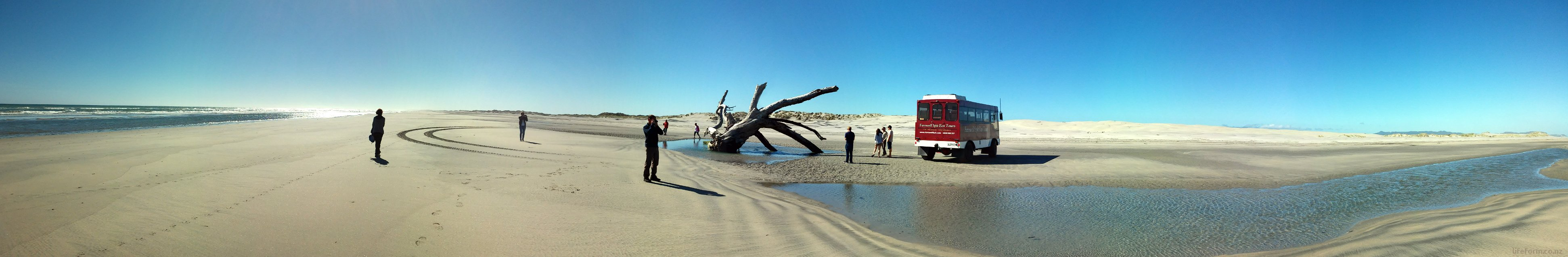 Panorama - Farewell Spit Eco Tour - Dec 2014