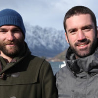 Chris Thompson (left) with Ben Ryan. Photo / NZH