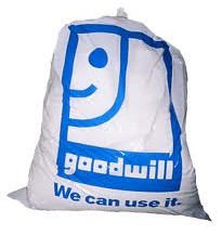 "A Bag with 'Goodwill we can use it"" written on it"