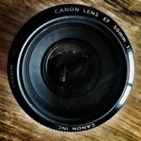 a 50mm camera lens