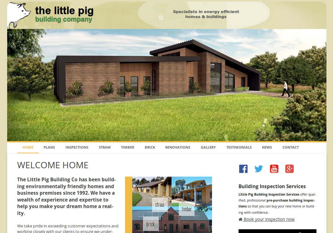 Little Pig Building Company website