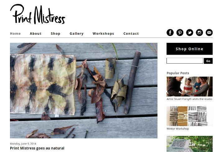 The Print Mistress website