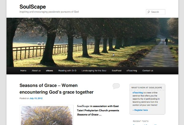 The SoulScape website