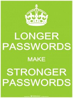 Longer Passwords make Stronger Passwords