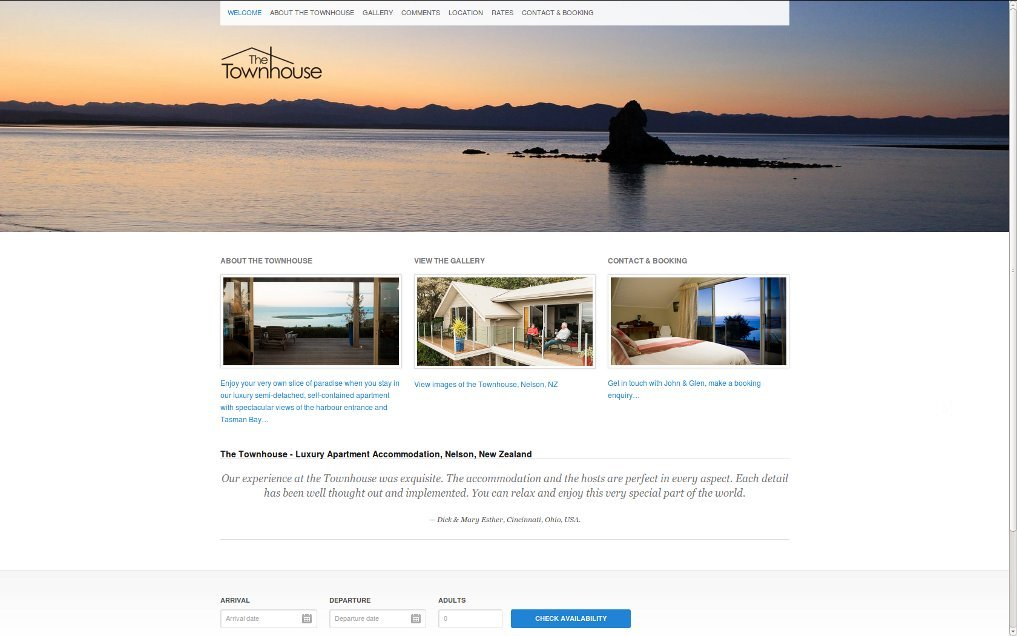 The Townhouse: Luxury apartment accommodation, Nelson, New Zealand