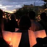 Carol singing at the Nelson Cathedral, NZ Dec 2011
