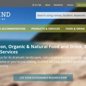 EcoFind.co.nz website homepage