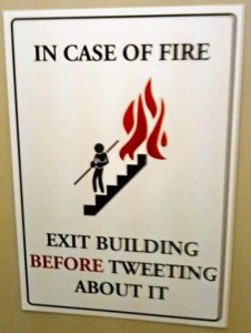 Public service sign about fire saftety