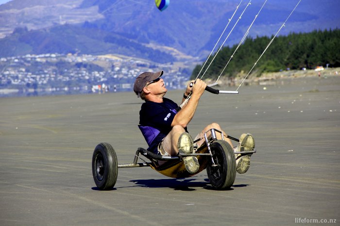 Kite Buggy, Rabbit Island, Nelson