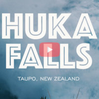 Huka Falls, Taupo NZ - 4k Video