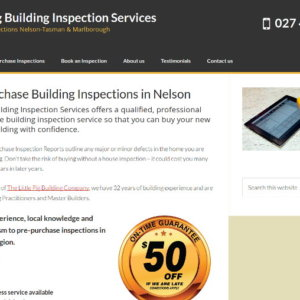 Nelson Pre-Purchase Building Inspection Site