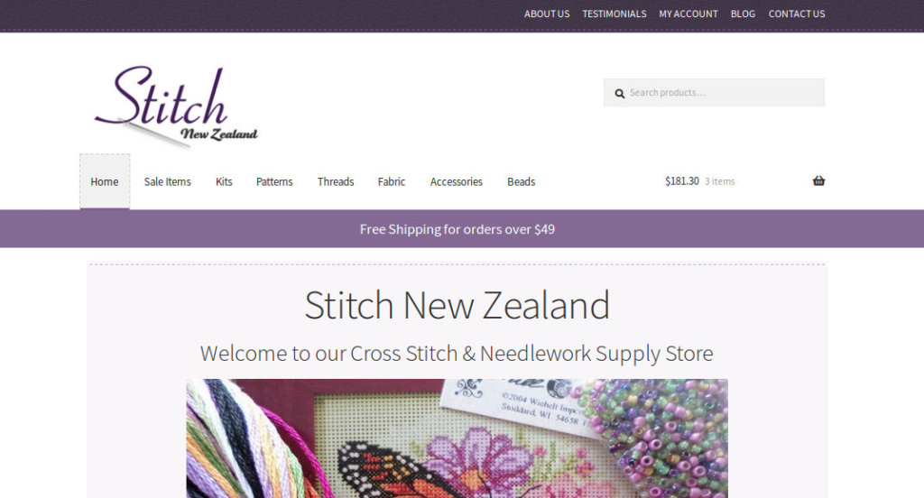 Stitch New Zealand website