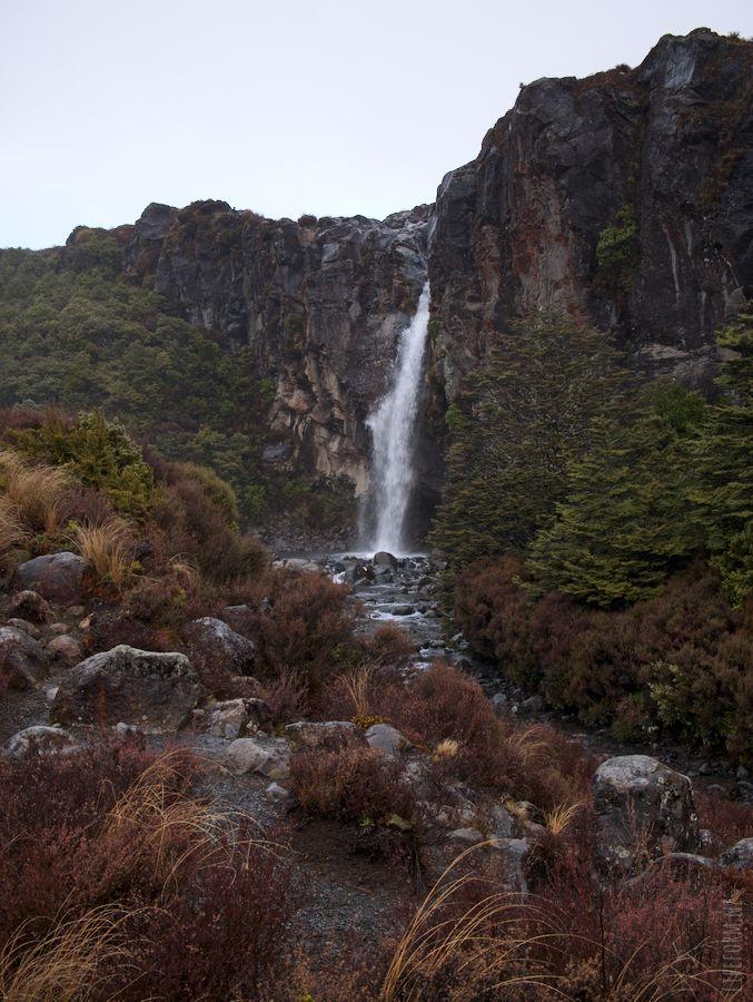 Taranki Falls from a distance