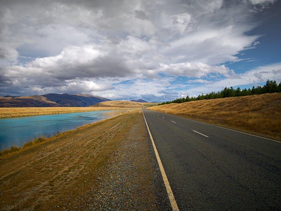 Straight road to Ohau A