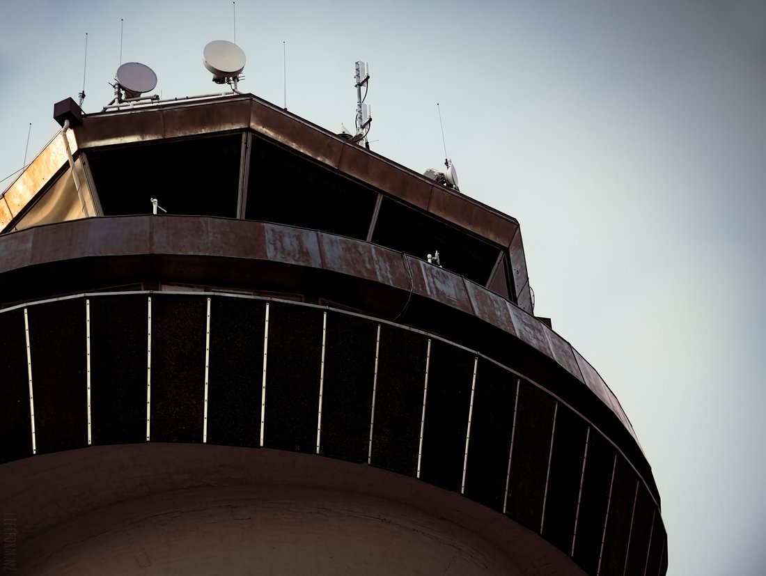 top of airport control tower