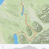 Map of ride from Kumara to Lake Kaniere on the West Coast Wilderness Trail